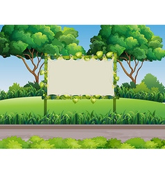 Bamboo frame in the park vector image