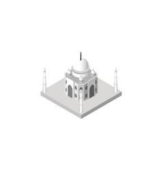 isolated taj mahal isometric india mosque vector image vector image