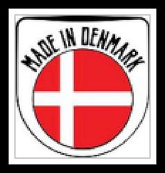 Made in Denmark rubber stamp vector image vector image