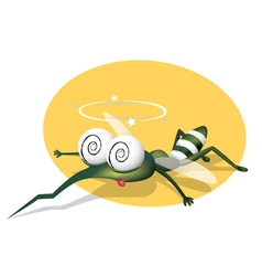 mosquito character vector image vector image