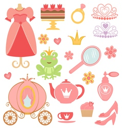 Princess collection vector image vector image