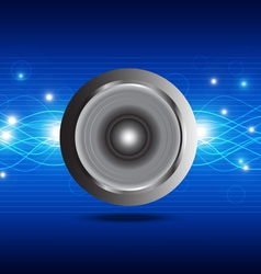 sound wave from speaker vector image