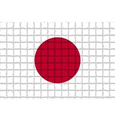 The mosaic flag of Japan vector image vector image