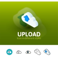Upload icon in different style vector image vector image