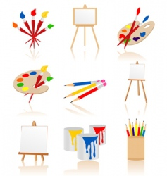 Artist icons vector