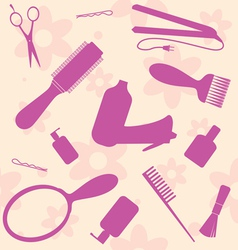 hair dressers tools vector image vector image