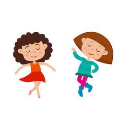 cartoon of little graceful vector image vector image