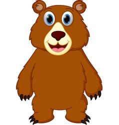 happy bear cartoon vector image vector image