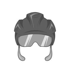 Pilot helmet icon black monochrome style vector image
