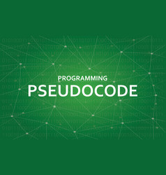 programming pseudocode concept white vector image vector image