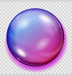 Transparent purple sphere with shadow vector