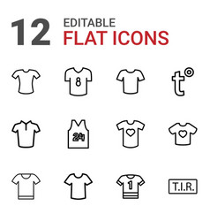 12 t icons vector image