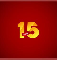 15 years anniversary celebration logo template vector