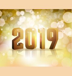 2019 new years eve concept vector