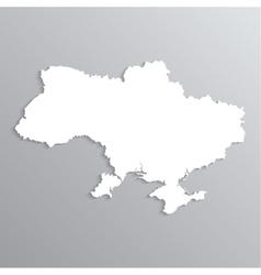 3d map ukraine vector image