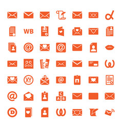 49 letter icons vector