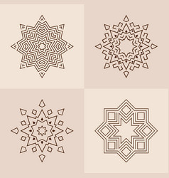 Abstract symmetric geometric shapes symbols for vector