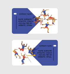 athletic coach business card vector image