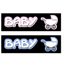 baby carriage design vector image