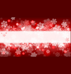 background of snowflakes with stripe for vector image