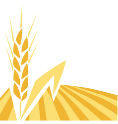 Background with wheat agricultural image vector