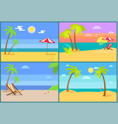 beach and seascapes collection vector image