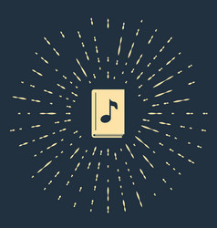 Beige audio book icon isolated on dark blue vector