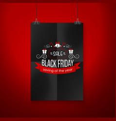 black friday sale emblem vector image