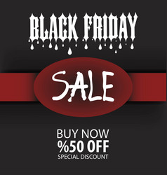 black friday sale poster and eps file vector image