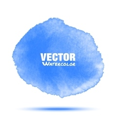 blue transparent watercolor circle stain vector image