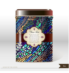 box design product package tea coffee vector image