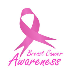 Breast cancer awareness ribbon vector