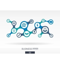 Business growth abstract background vector