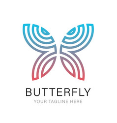 butterfly luxury and minimalist logo template vector image