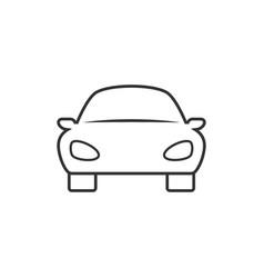 car linear icon vector image