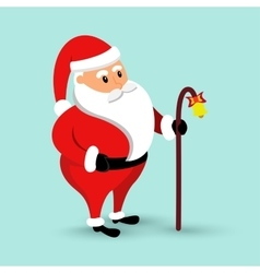 Cartoon Santa Claus is coming vector image