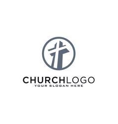 Church logo christian symbols cross jesus vector