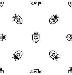 coat of arms of tennis club pattern seamless black vector image