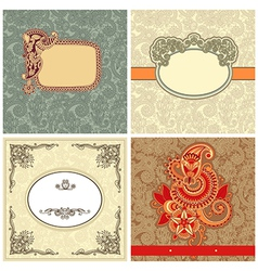 collection ornate vintage template vector image