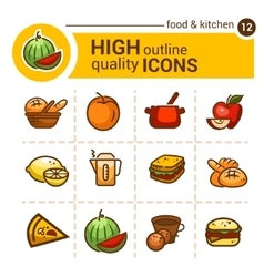 color food icons vector image