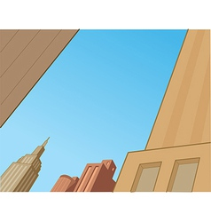 Comics city skyline scene vector
