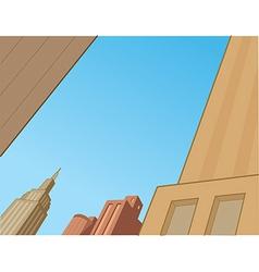 Comics City Skyline Scene vector image vector image