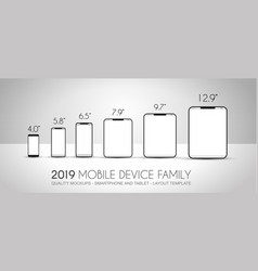complete next generation device family included vector image