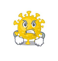 Corona virus diagnosis cartoon character design vector