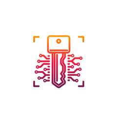 cyber security key isolated icon web security vector image