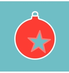 Decoration on Christmas tree with star vector