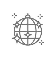 disco ball party light line icon vector image