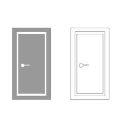 Door set icon vector