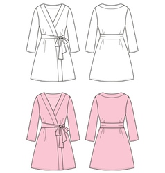 Dressing gown vector