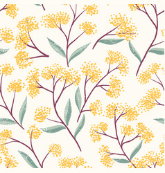 field foral seamless pattern-01 vector image